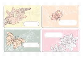 business cards templates with ornate floral pattern vector image