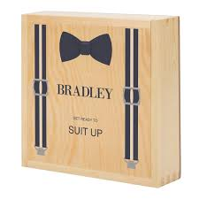 wooden groomsmen gifts personalized wooden groomsmen gift box the registry