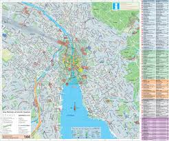 Swiss Map Large Detailed Tourist Map Of Zürich