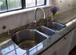 Best Kitchen Sinks Images On Pinterest Kitchen Ideas Home - Triple sink kitchen
