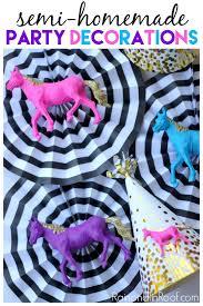 Horse Birthday Decorations Semi Diy Party Decorations