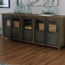 room and board zen media cabinet large wood and metal langley storage cabinet world market