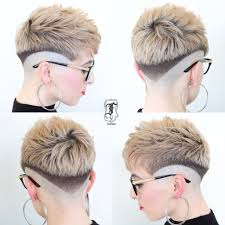 two ear hairstyle women s eccentric two toned fade cut pixie with blunt lines short