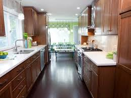 Double Galley Kitchen Kitchen Galley Kitchens Ideas Red Cabinets In Kitchen Double