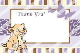baby nala baby shower thank you card partyexpressinvitations