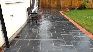 Patio Slab Designs Garden Patio Made With Slabs The Best Design Ideas Home