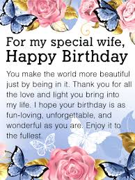 you make the world beautiful happy birthday card for wife