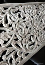 wood carved poppy wall panel india carved wood and wood decor