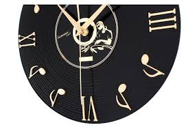 Musical Note Decorations Creative Musical Note Vinyl Record Cd Acrylic Frameless Wall Clock