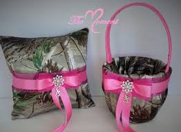 pink camo wedding rings realtree apg camo wedding flower girl basket with pink pink camo