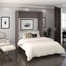 Full Wall Bedroom Cabinets Cielo Full Wall Bed In Gray