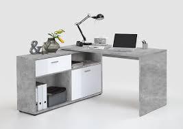 Schreibtisch Hochglanz Schreibtisch Winkelkombination Diego Hochglanz Weiß Light Atelier