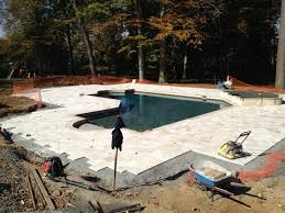 how to lay travertine pavers around pool round designs