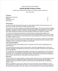 safety report templates 11 free word pdf format download