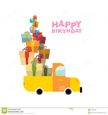 box car clipart car and pile of presents happy birthday to you lot of gift box