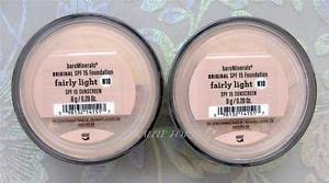 bareminerals spf 15 foundation fairly light bare minerals escentuals spf 15 foundation fairly light n10 8g xl