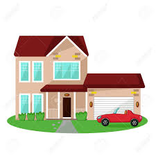 style chic house and car games man with his car house and