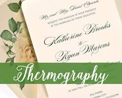 thermography wedding invitations thermography wedding invitations cat paperie