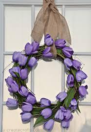 Tulip Wreath Simple Tulip Wreath Tutorial U Create Bloglovin U0027