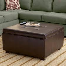 coffee table black ottoman coffee table large leather black