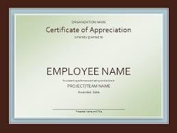 appreciation certificate template free certificates 550x412