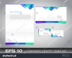 Text Your Business Card Corporate Identity Set Kit Your Business Stock Vector 142959031