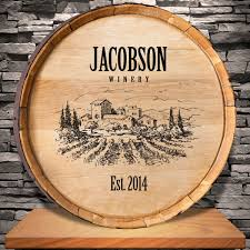 personalized home decor wine barrel sign personalized vineyard wine barrel