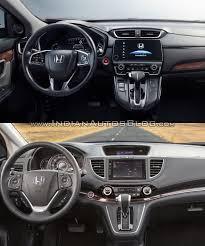 honda crv 2016 2017 honda cr v vs 2015 honda cr v interior indian autos blog