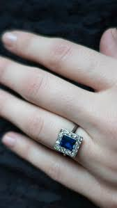 art deco sapphire and diamond vintage engagement ring vintage