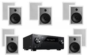 in wall home theater speakers pioneer vsx 831 receiver w polk audio mc85 in wall speakers bundle