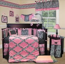 Jungle Themed Nursery Bedding Sets by Baby Boutique Pink Minky Zebra 15 Pcs Nursery Crib Bedding Set