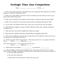 geologic time worksheet free worksheets library download and