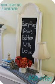 Chalkboard Home Decor by Turn A Mirror Into A Chalkboard Mom 4 Real
