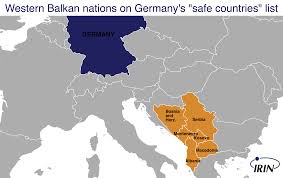 Map Of Germany And Italy by Irin Roma Fear Paying The Price Of Germany U0027s U201csafe Countries U201d Policy