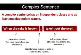 what is a complex sentence grammar lesson
