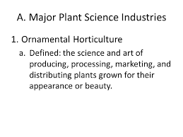 objective 3 01 agriscience understand the plant industry ppt
