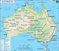 Africa Map Countries And Capitals by Australia Map Showing The Provinces With Their Capitals Airports