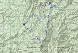 Shining Rock Wilderness Map Cohutta Wilderness Jacks River Falls Via Rice Camp Loop