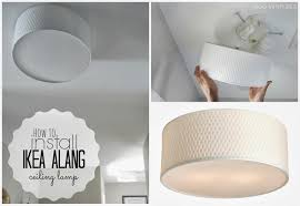 How To Install A Flush Mount Ceiling Light Ikea Flush Mount Ceiling Light And Duo Ventures How To Install