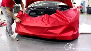 lamborghini huracan front lamborghini huracan front bumper vinyl wrap in satin red chrome