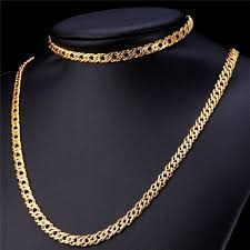 necklace design with price images Unique design gold plated chain necklace and braclet jewelry set jpg