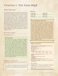 latex project report template dnd latex template x post w r dnd dndbehindthescreen the template might be an alternative to latex lovers