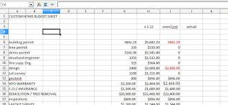 Home Building Cost Estimate Spreadsheet by House Renovation Spreadsheet Template Pacq Co