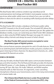 ut416 cb radio with scanning receiver users manual bc885 user