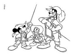 donald duck coloring pages sword fight between mickey mouse