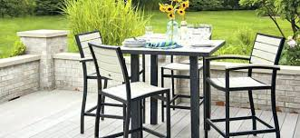 Patio Bar Table And Chairs Patio Bar Stools And Table Intrumpsamerica Us