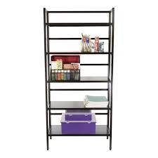 black steel 5 tier folding bookshelf storables