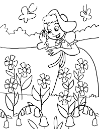 artwork for kids to color mary mary quite contrary nursery rhyme