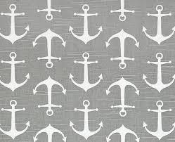 anchor fabric gray coastal fabric by the yard designer nautical