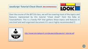 javascript tutorial pdf tuesday july 14 th 2015 instructor craig duckett javascript